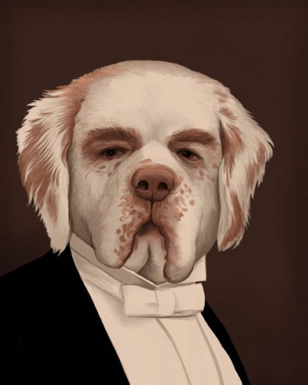 Mr. Carson, the butler in Downton Manor