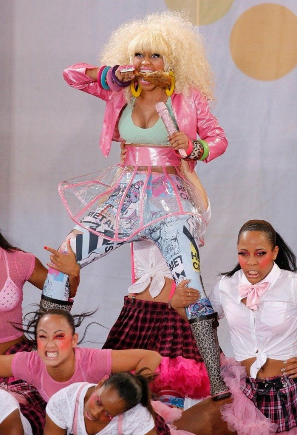 Nicki Minaj and chicken leg
