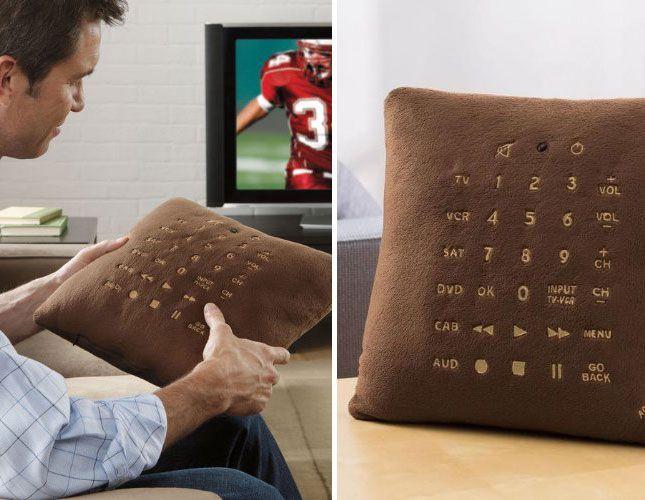 Pillow + TV remote