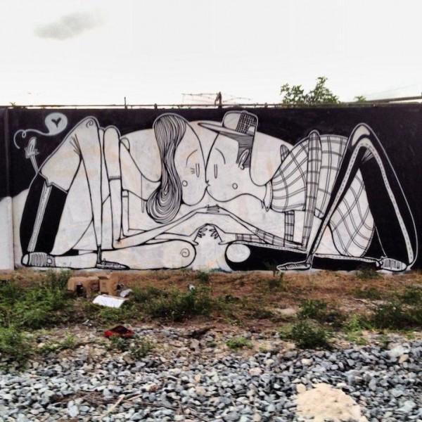 Romantic Street Art by Alex Senna