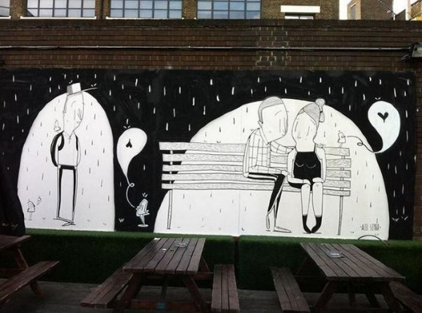 Romantic Street Art by Alex Senna