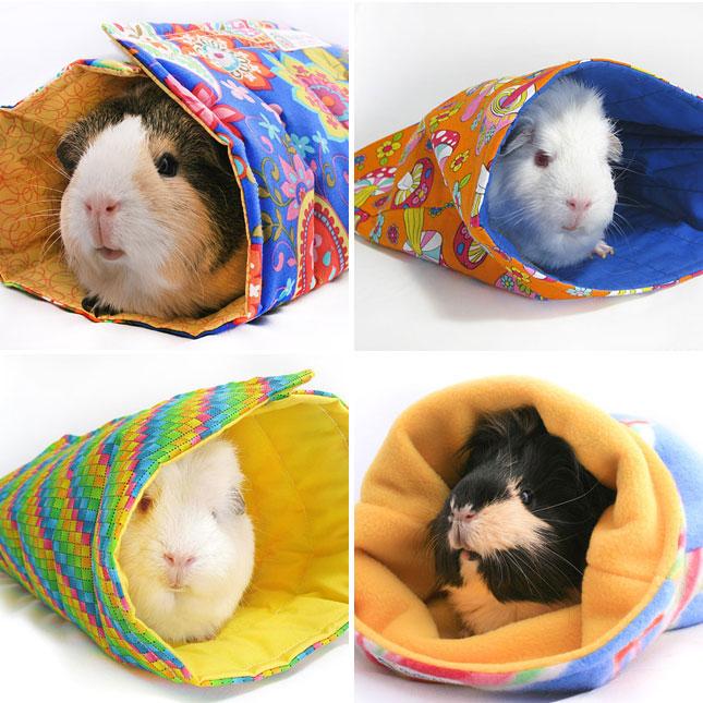 Sleeping bag for a guinea pig