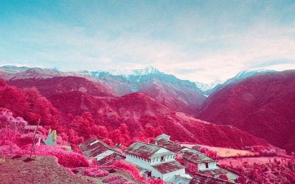 Snowy peaks in Nepal