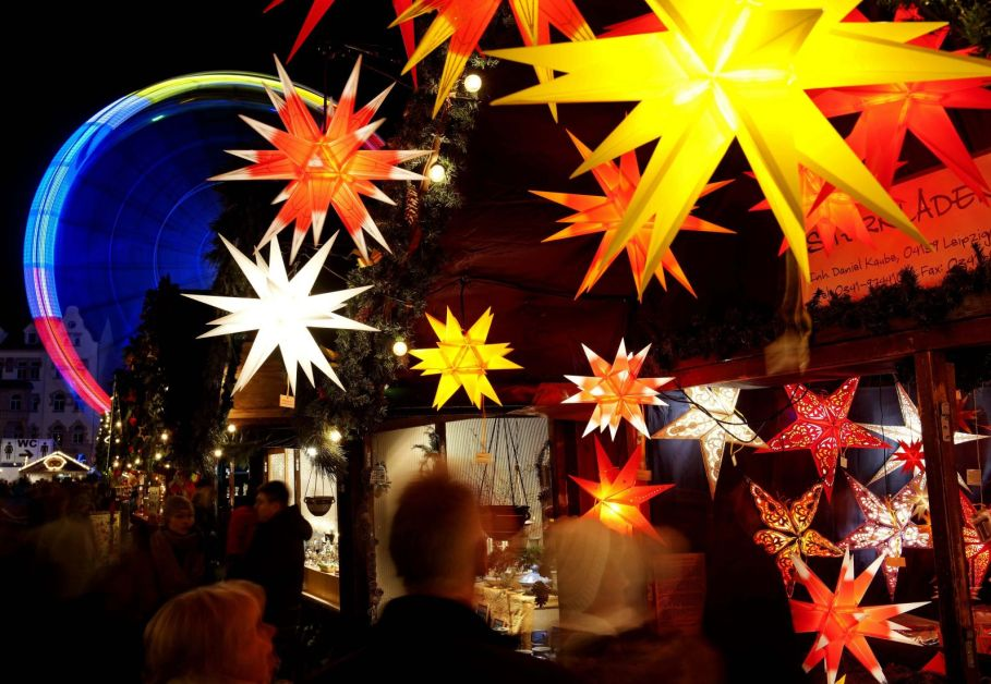 The lights of the Christmas exhibition in Erfurt, Germany