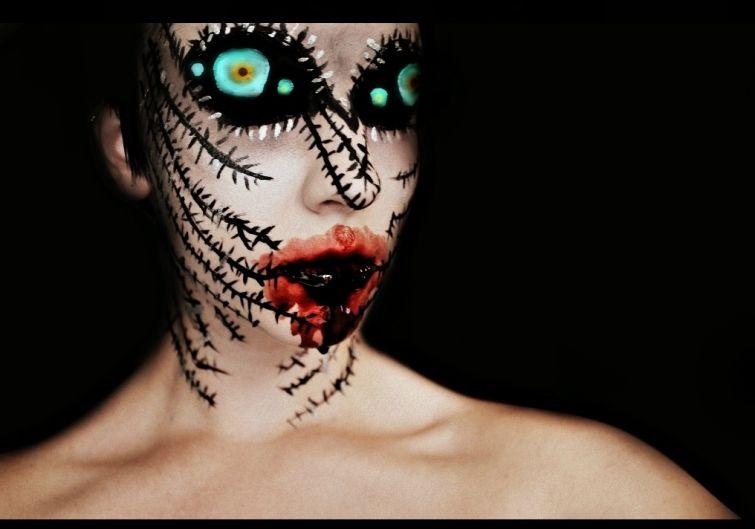 Creepy and Colorful Makeup by Stephanie Fernandez