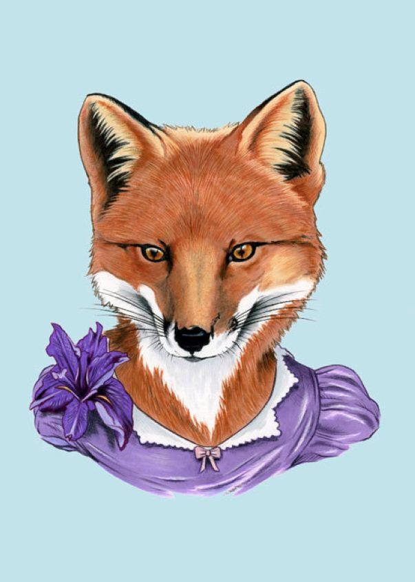Fox Lady art print