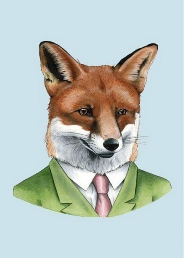Fox Man art print