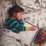 Meet Cute Little Girl Roozle Who Draws Herself to Sleep