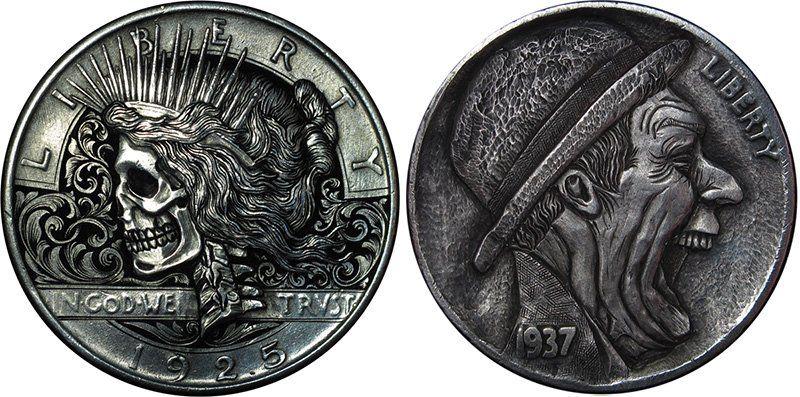 Hobo Nickels Coin Art