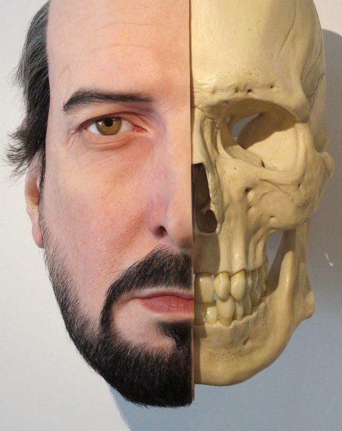Hyper-realistic Sculptural Man Portrait