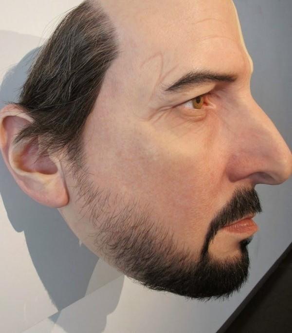 Hyper-realistic Sculptural Portrait of Man