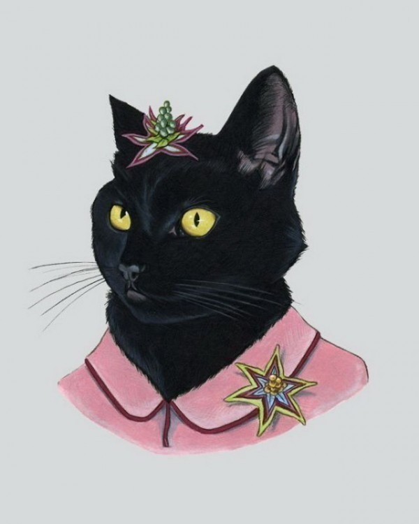 Lady Black  Cat Print