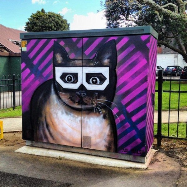 Street Artist Paul Walsh Creates Wonderful Paintings on New Zealand's Telephone Utility Boxes