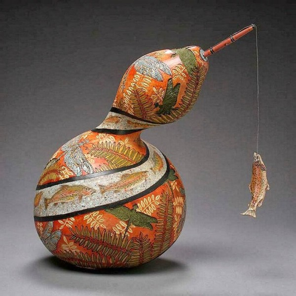 Amazing Gourd Carving Art of Marilyn Sunderland