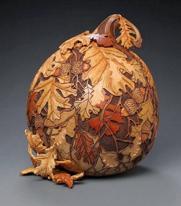 Pumpkin Gourd carving Art by Marilyn Sunderland