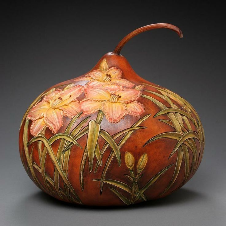 The Delicate Gourd Carving Art by Marilyn Sunderland