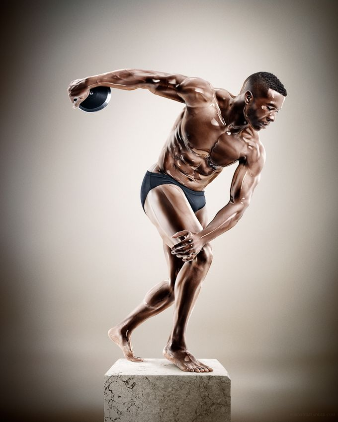 Incredible Athlete Sculptures by Tim Tadder and Cristian Girotto