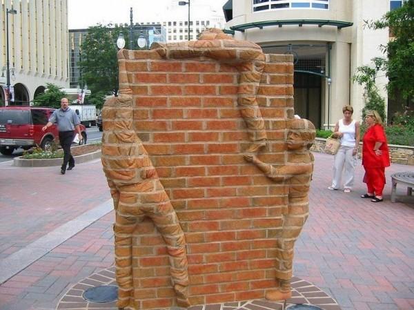 Wonderful Brick Sculptures