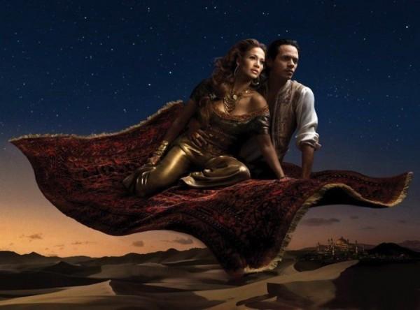 Jennifer Lopez and Marc Anthony from Aladdin.