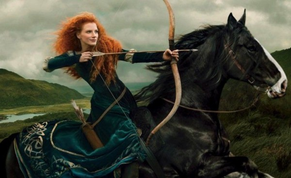 Jessica Chastain as Merida