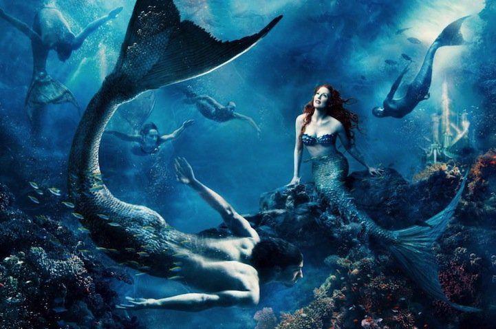 Julianne Moore as Ariel, and Michael Phelps male mermaid