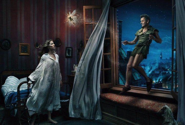 Mikhail Baryshnikov, Gisele Bundchen and Tina Fey in Peter Pan.