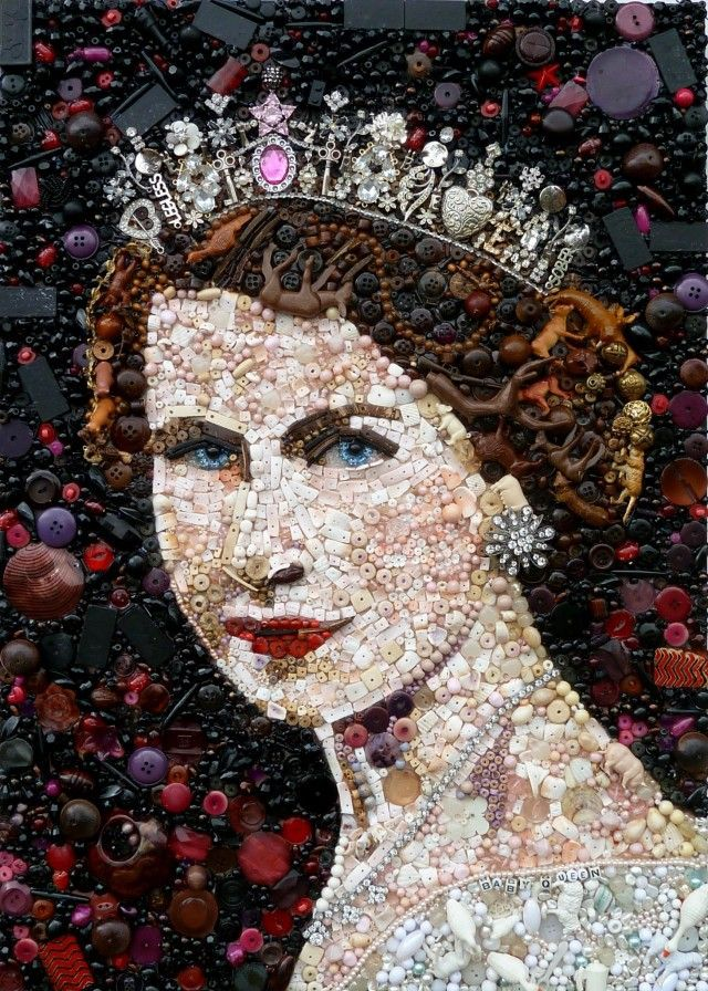 Recycled Portraits by Jane Perkins