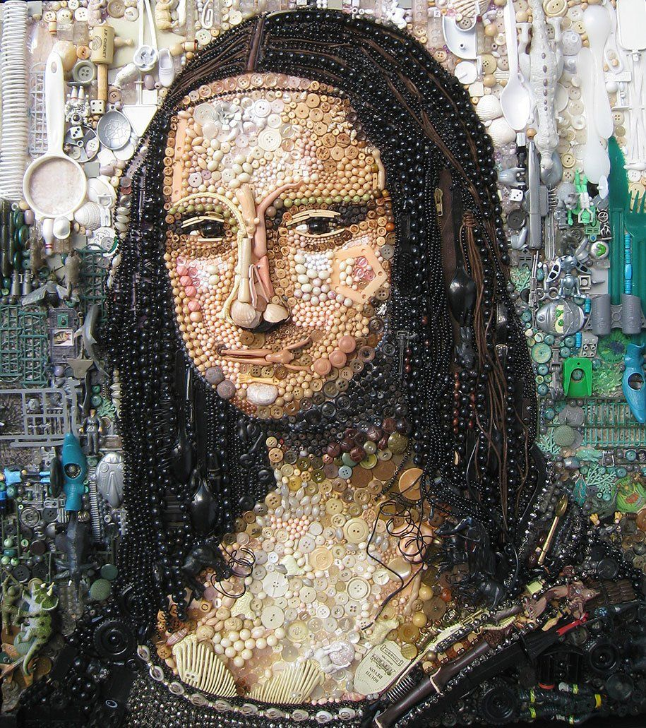 Recreated Portraits from Thousands of Found Objects