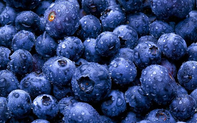 10. Blueberries