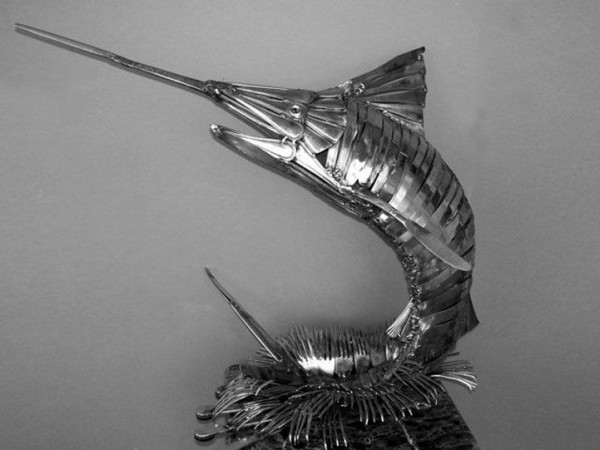 Truly Amazing Animal Sculptures Made Entirely Out Of Cutlery