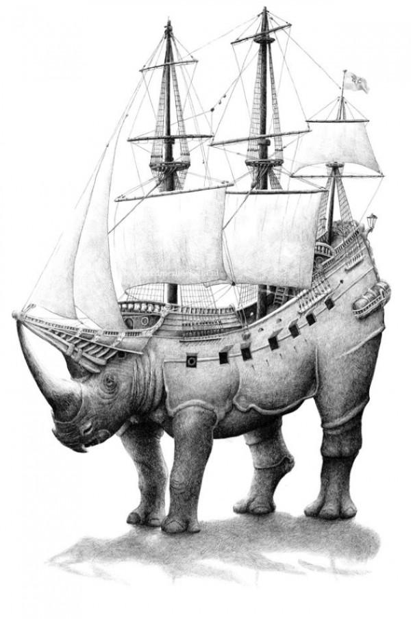 Surreal Pen Drawings of Redmer Hoekstra