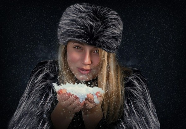 Paige in her furs