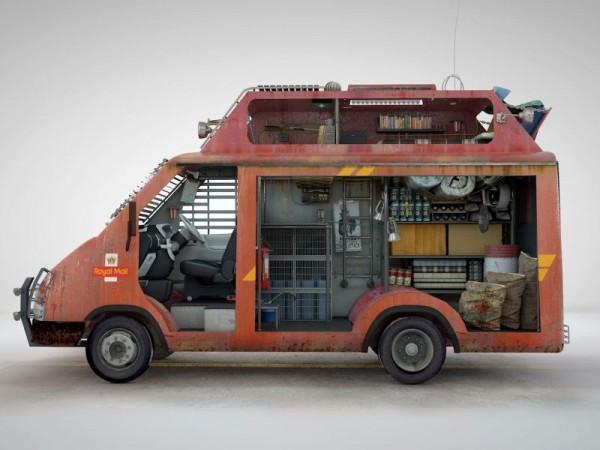 London postal vehicle
