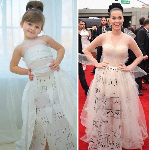 Mini Fashion Designer Mayhem Creates Amazing Dresses Out Of Paper and Tape