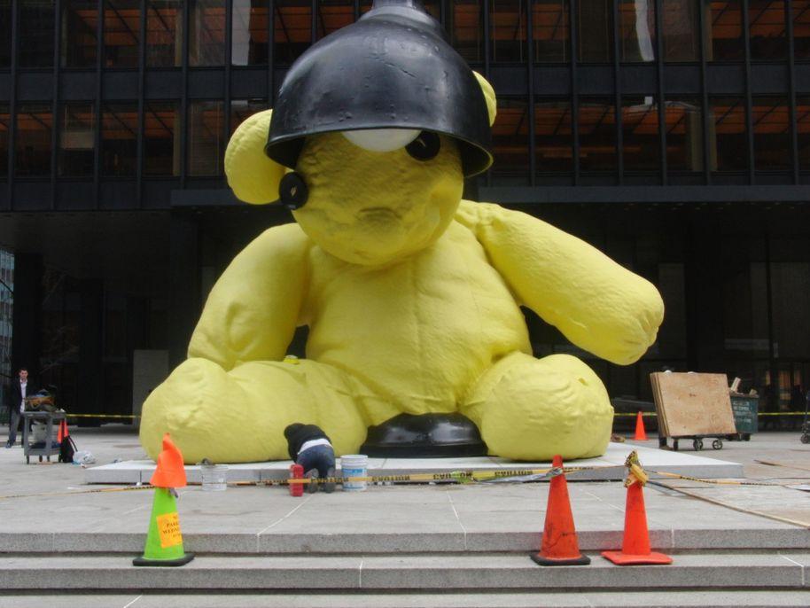 Giant Bronze Teddy Bear Sculpture
