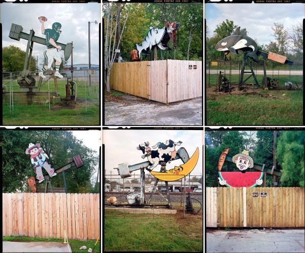 'Nodding Donkeys': Fantastic Pictures of Decorated Oil Pumps by Ben Sklar