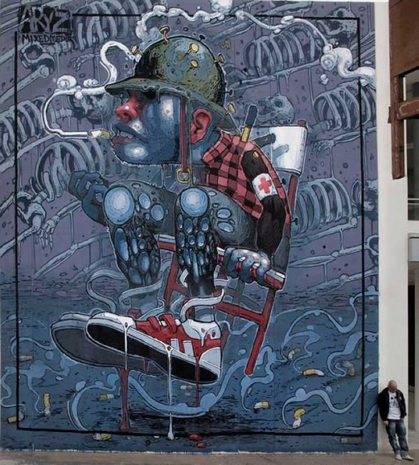 Incredibly Surreal Street Art by Aryz