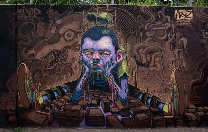 Incredibly Surreal Street Art by Aryz
