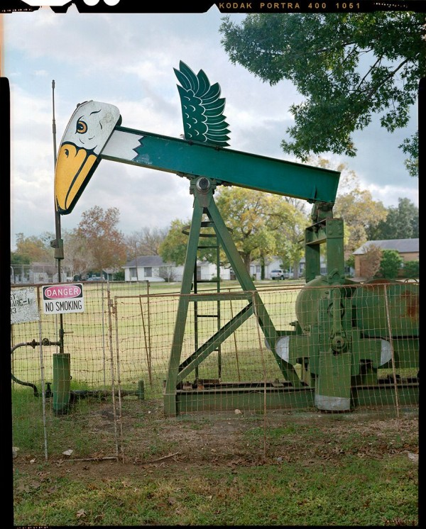 Decorated Oil Pumps by Ben Sklar