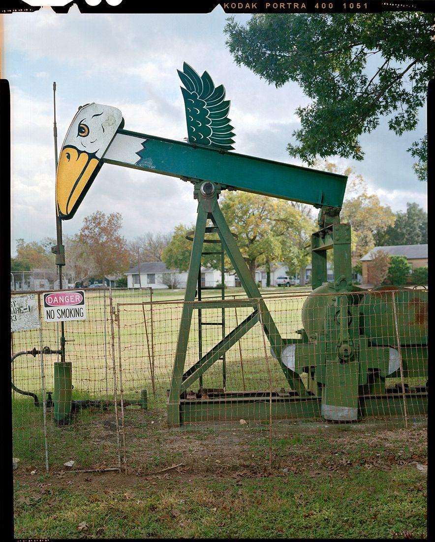 Decorated Oil Pumps by Ben Sklar