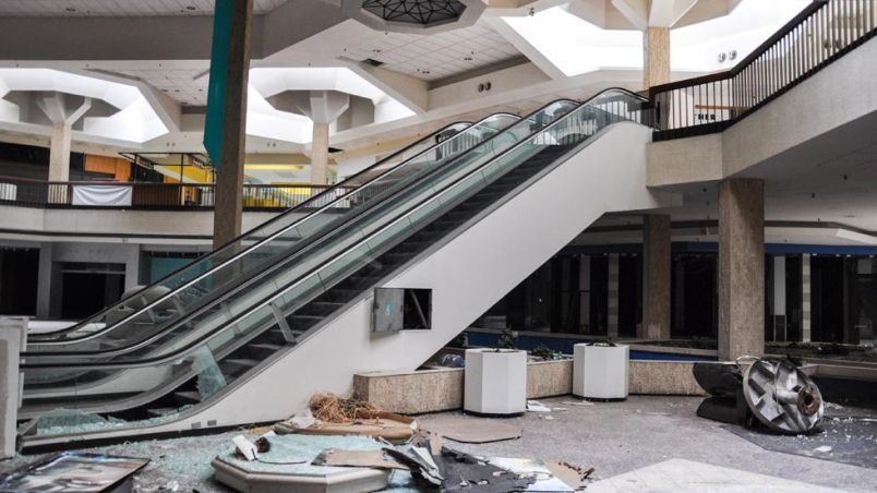 Ghostly Images of Abandoned Shopping Mall by Seph Lawless