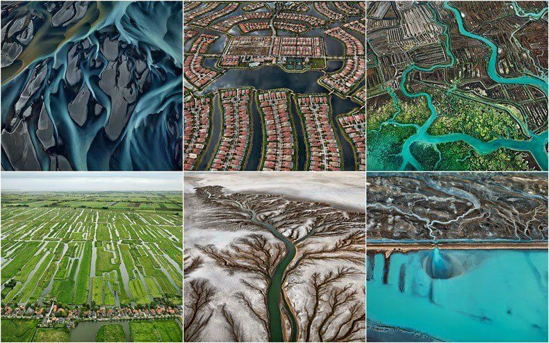 Edward Burtynsky Takes Astounding Photographs of Water and Gives Artistic Touch