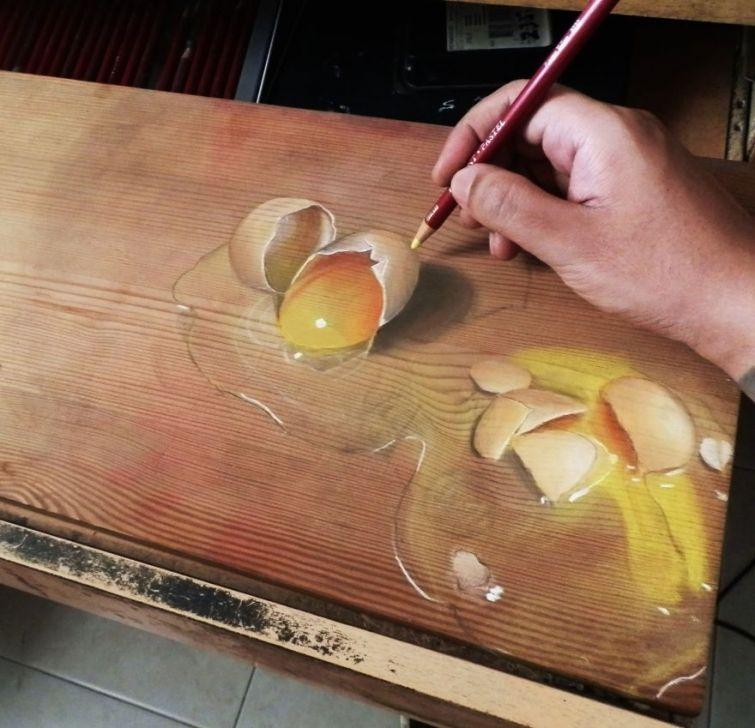 Hyper Realistic Paintings on Wood by Ivan Hoo