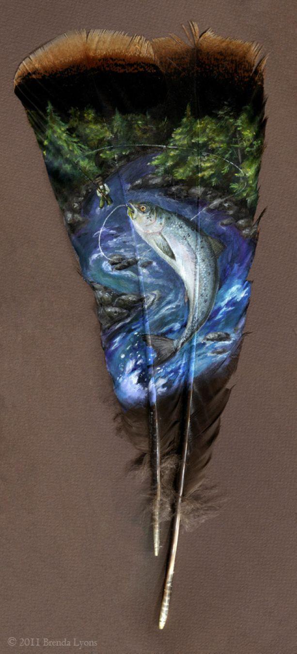 Salmon feather
