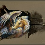 Mind Blowing Acrylic Paintings on Feathers by Brenda Lyons
