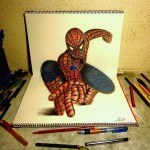 Fascinating 3D Illusion Sketchbook Drawings of Nagai Hideyuki
