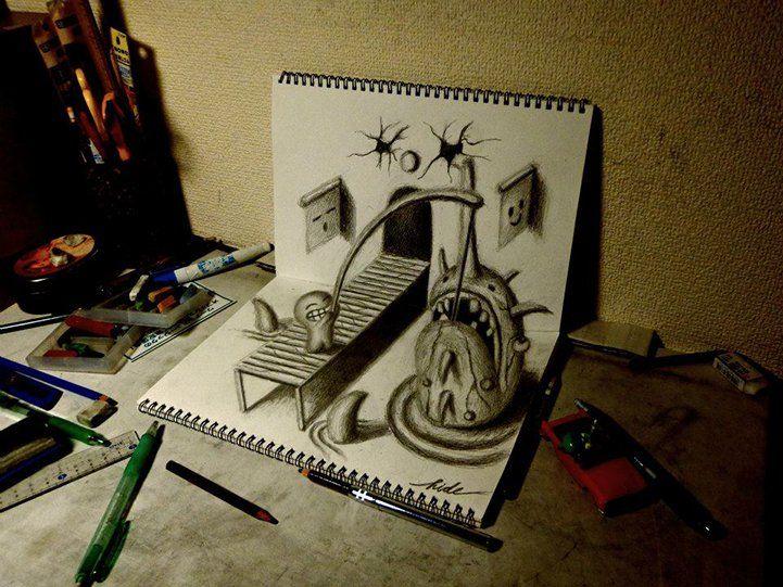 Amazing Sketchbook Drawings by Nagai Hideyuki