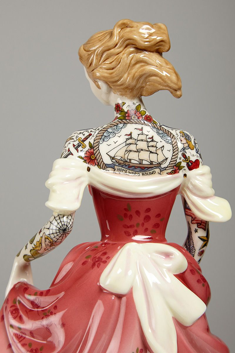 Incredibly Awesome Tattooed Porcelain Figurines By Jessica