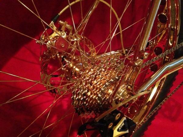 24k Gold Extreme Mountain Bike