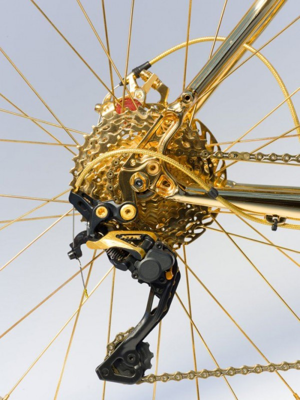 24k Gold Extreme Mountain Bike